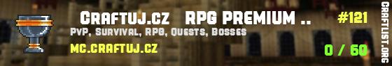 ★ Craftuj.cz ★ RPG PREMIUM SURVIVAL | DROPY | DOVEDNOSTI | QUESTY [2011-2021]