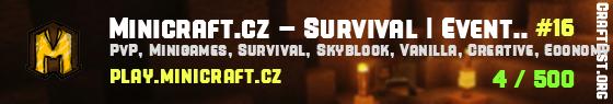 Minicraft.cz - Survival | Creative | Minihry - 1.7-1.17